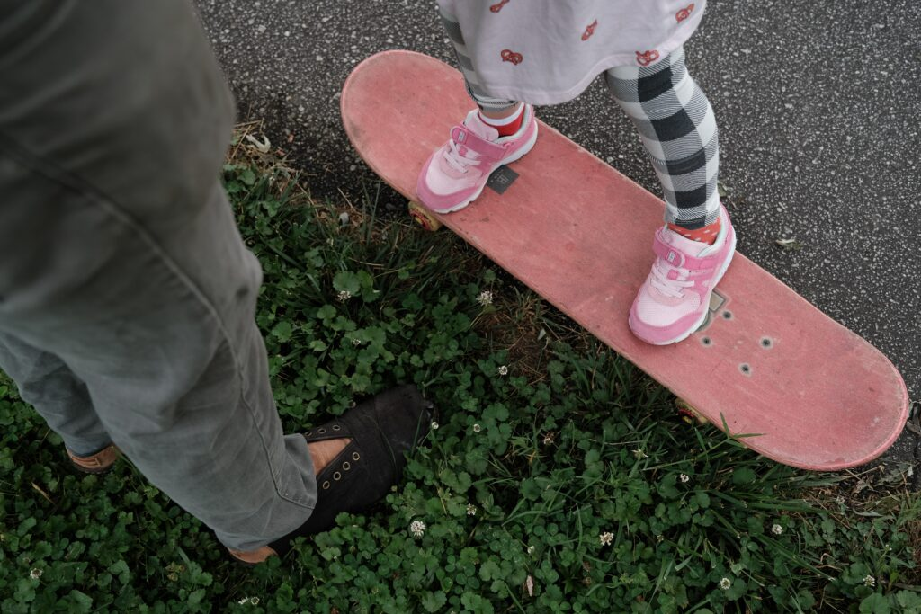 Two years without your daughter  - teaching skateboarding